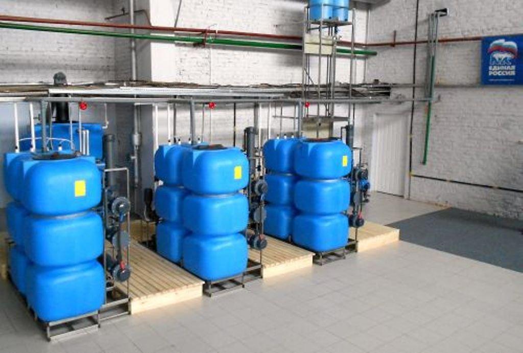 очистка резервуаров с водой