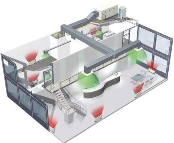 устройство вентиляции частного дома в разрезе